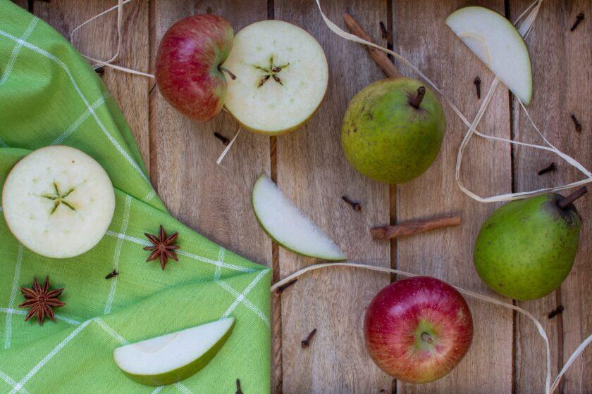hình ảnh mặt cắt của quả táo