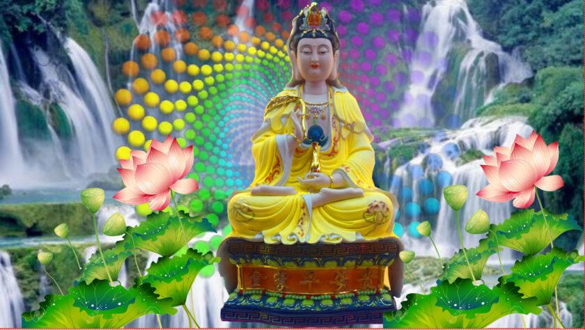 Hình ảnh Phật Quan Âm sặc sỡ sắc màu