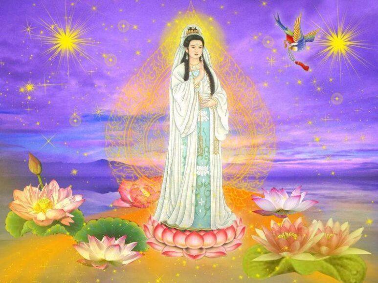 Hình ảnh Phật Quan Âm vẽ tay cực đẹp