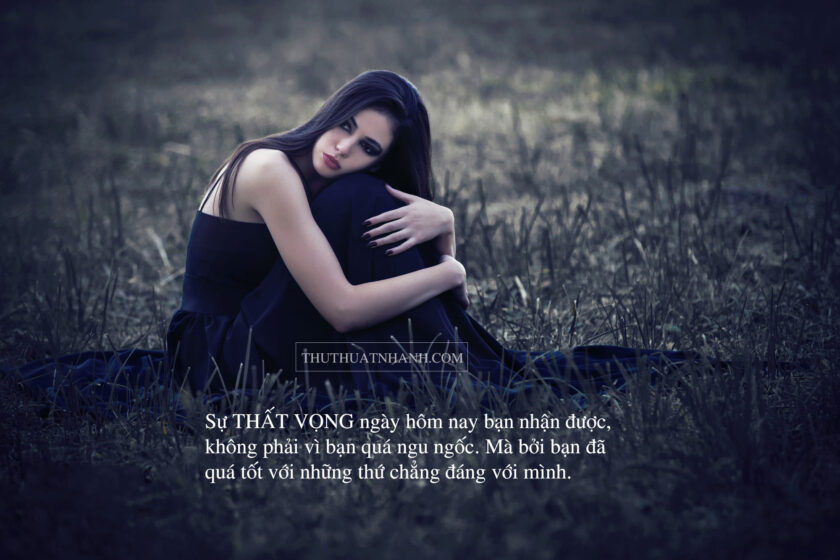 hình ảnh thất vọng về tình yêu của người con gái cô đơn một mình
