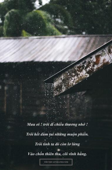 Hình ảnh thơ hay về mưa