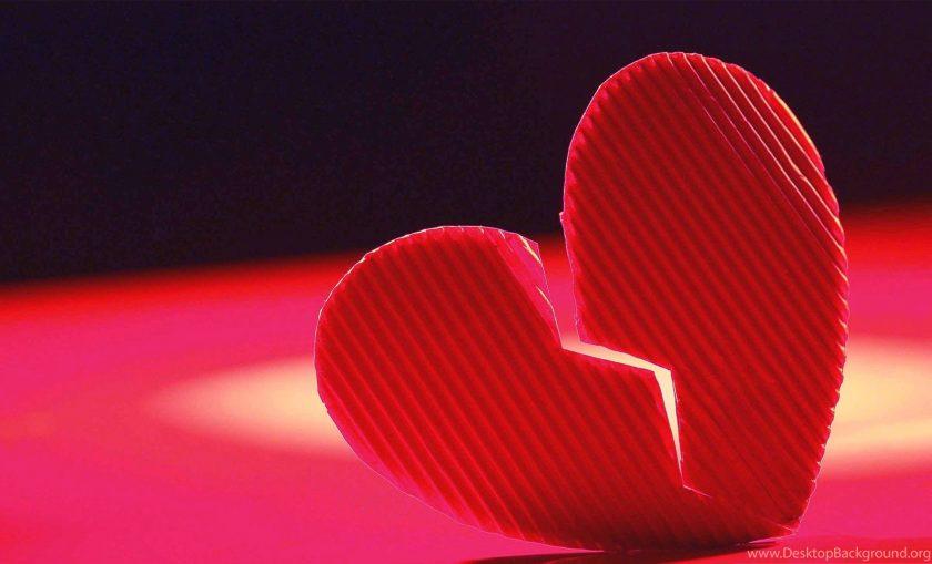 hình ảnh trái tim buồn chia đôi