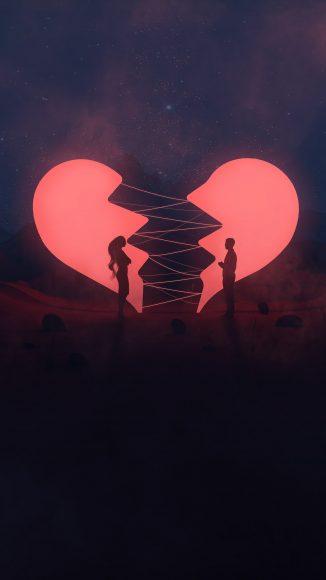 hình ảnh trái tim buồn đau