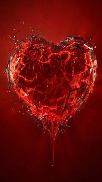 hình ảnh trái tim buồn đau khổ