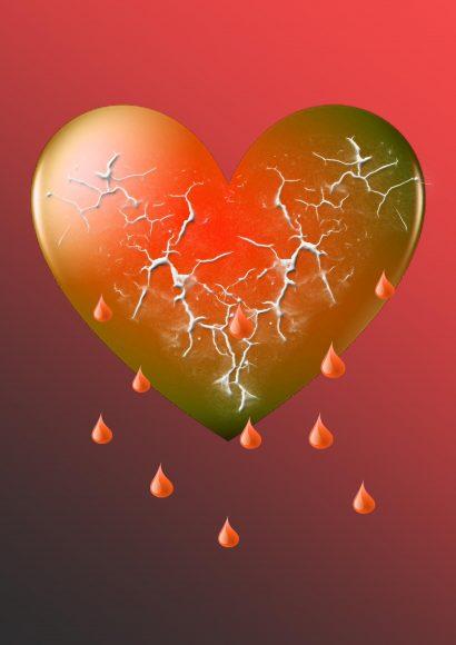 hình ảnh trái tim buồn rạn vỡ