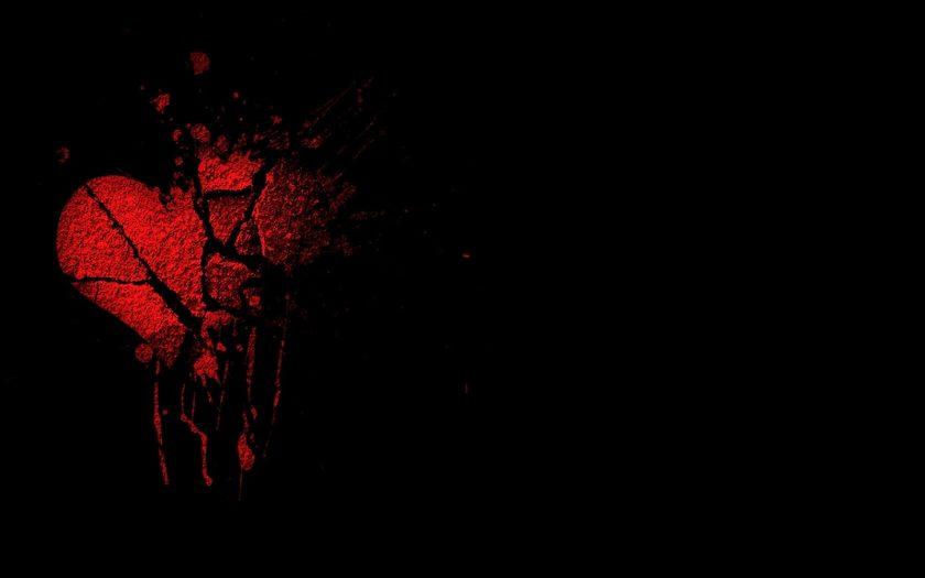 hình ảnh trái tim buồn tan vỡ chuyển sang màu đen