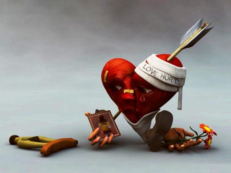 hình ảnh trái tim buồn tổn thương sâu sắc