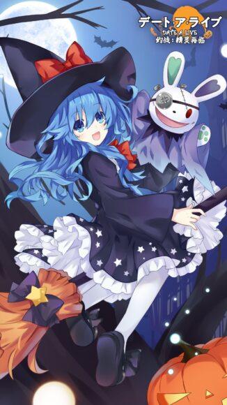 Hình anime tóc xanh phù thủa
