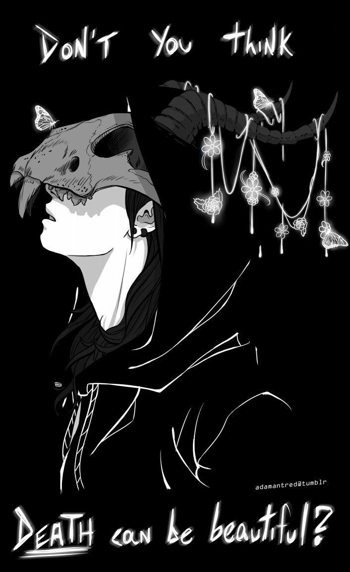 Hình anime trắng đen chất