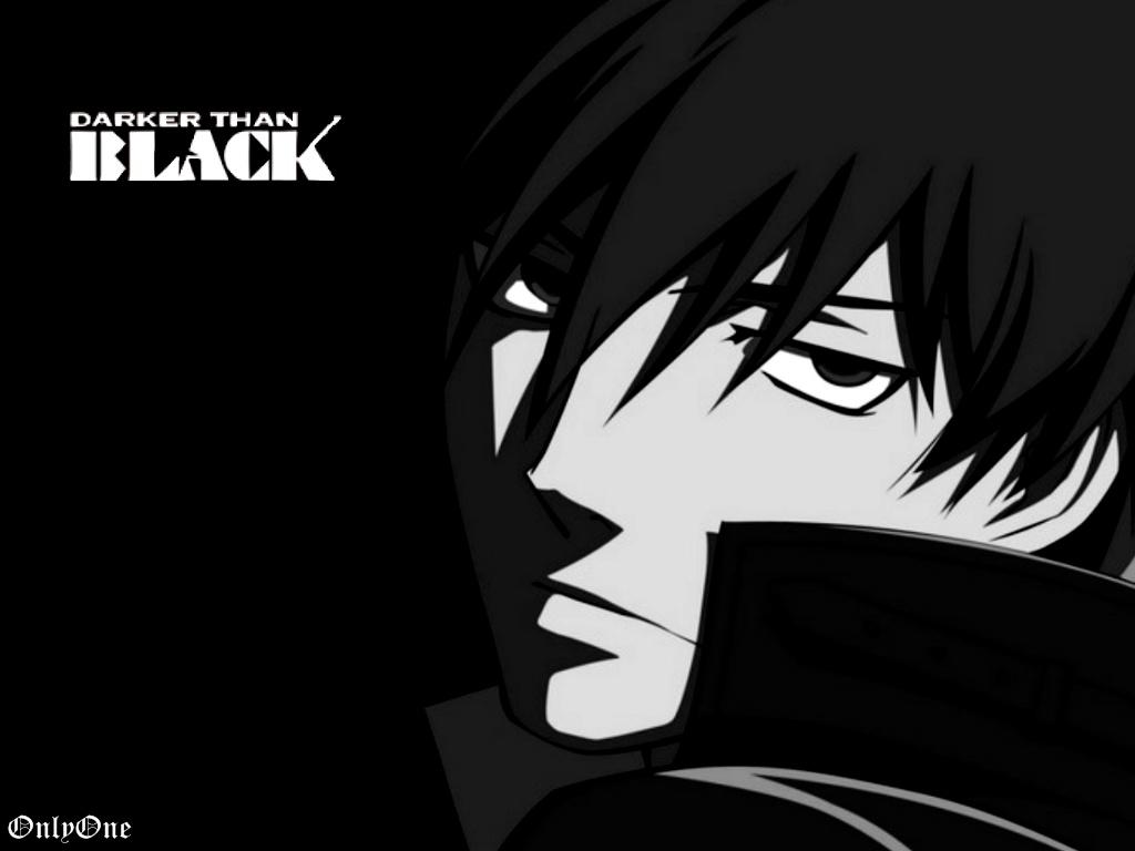 Hình anime trắng đen darker than black