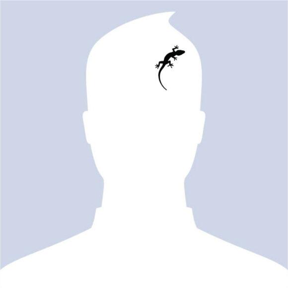 Hình Avatar Trắng cho nam và con thằn lằn