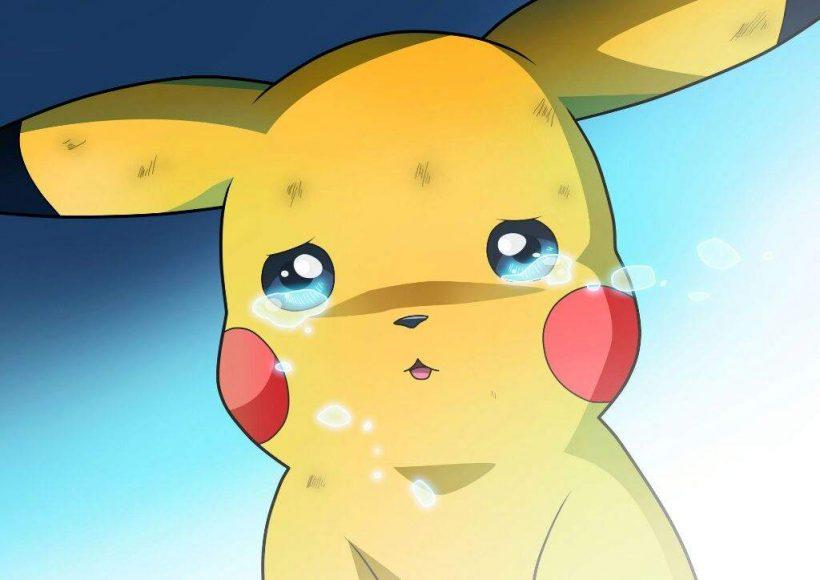 hình chibi buồn pikachu