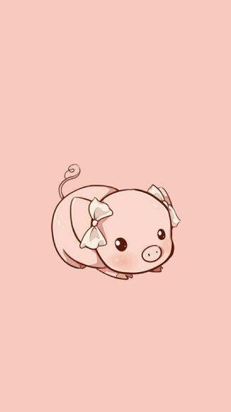Hình nền con lợn màu hồng