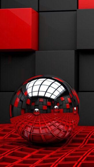 hình nền đỏ đen 3D