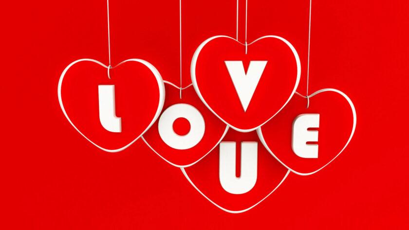 hình nền đỏ đẹp về tình yêu