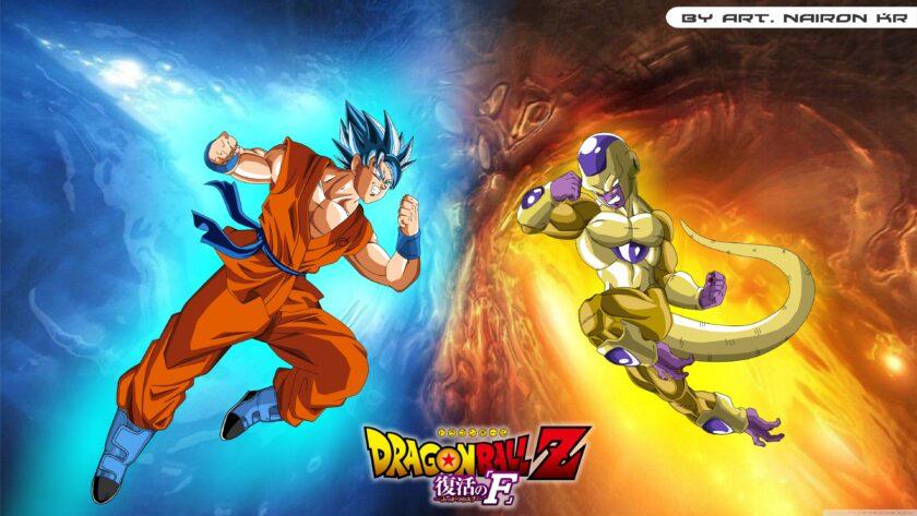 hình nền dragon ball songoku đối đầu với kẻ thù