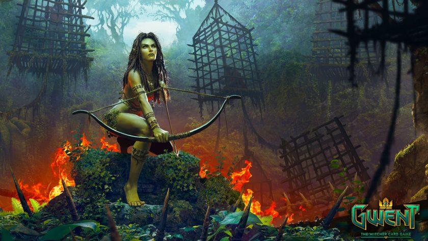 hình nền game 4k nữ cung thủ rừng xanh