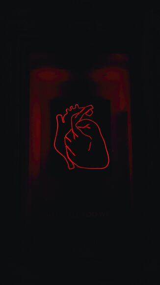 hình nền hình vẽ đỏ đơn giản tinh tế trên nền đen