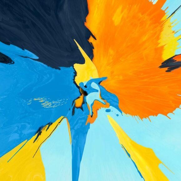 hình nền ipad chủ đề sơn vàng và xanh