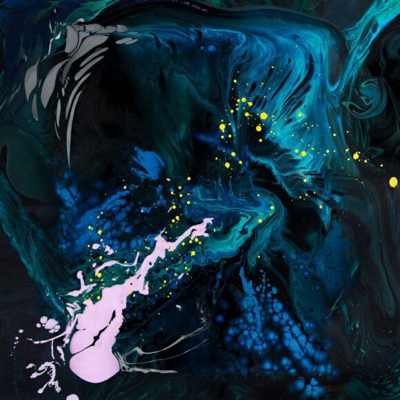 hình nền ipad những dòng chảy đen huyền bí