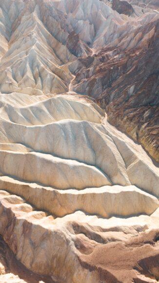 hình nền ipad những núi đá màu trắng