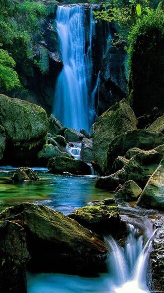 hình nền iPhone 6s về thác nước
