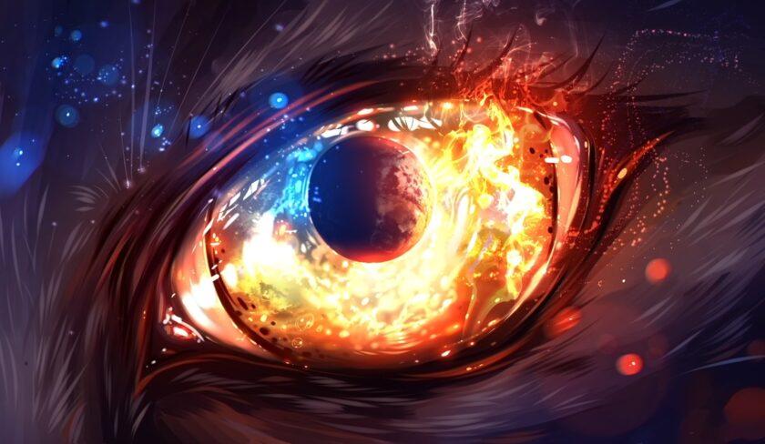 hình nền lửa về đôi mắt