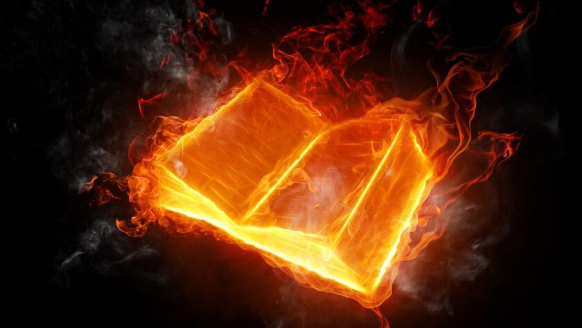 hình nền lửa về quyển sách