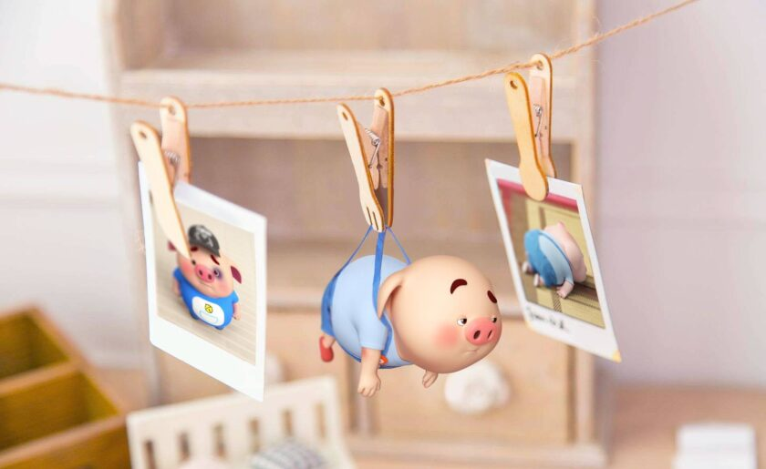 hình nền macbook về chú heo dễ thương
