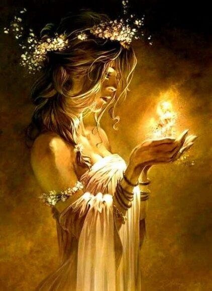 hình nền màu vàng đẹp về thần tình yêu