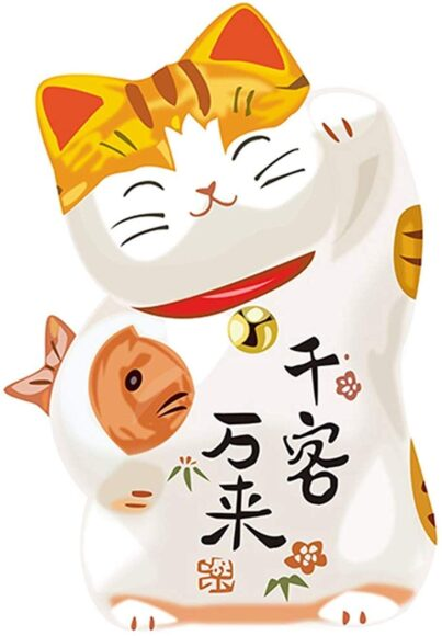 hình nền may mắn về chú mèo thần tài