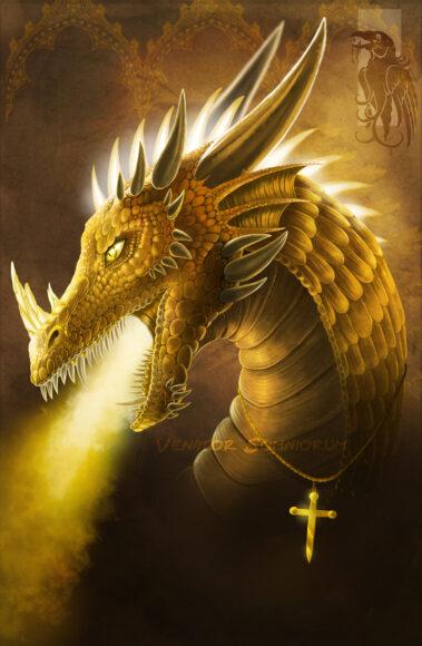 hình nền may mắn về chú rồng vàng