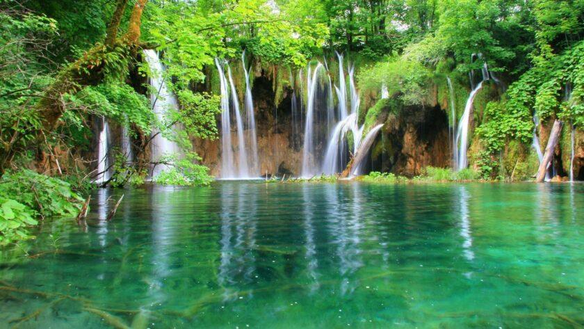 hình nền máy tính thiên nhiên toàn cảnh thác nước đẹp