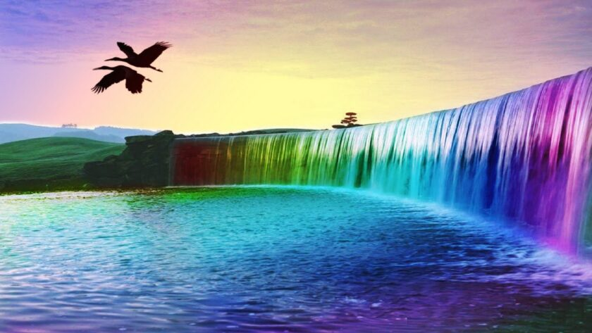 hình nền máy tính thiên nhiên về thác nước