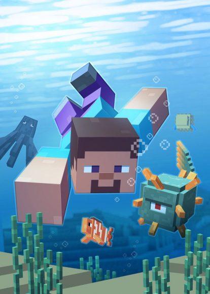 hình nền minecraft dưới nước