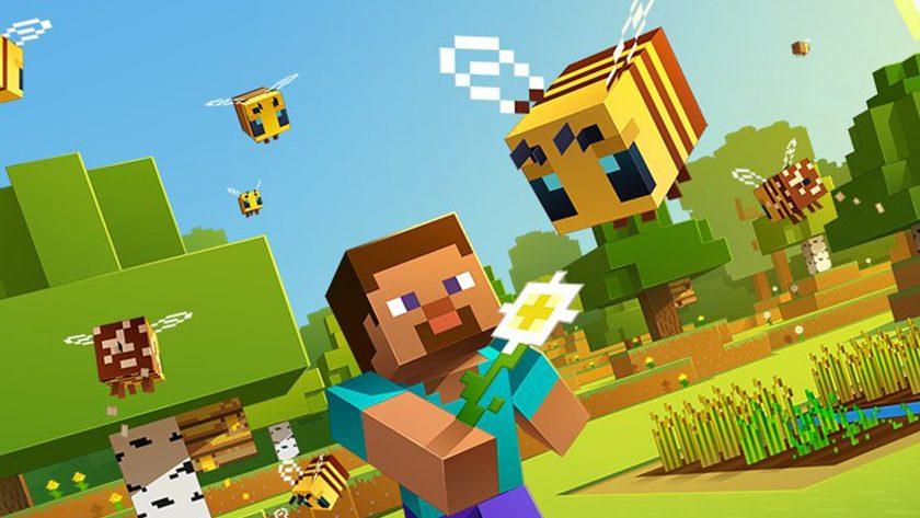 hình nền minecraft và con ong