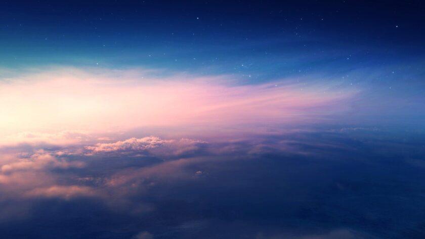 hình nền xanh dương về bầu trời lúc hoàng hôn