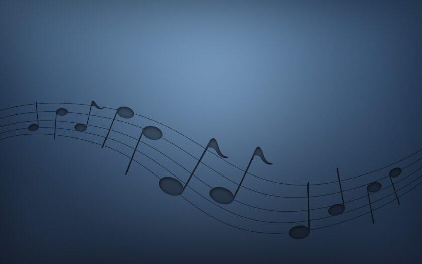 hình nền xanh dương về nốt nhạc