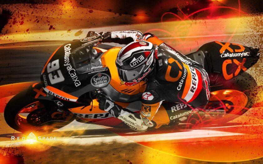 hình nền xe moto chạy tốc độ trên đường