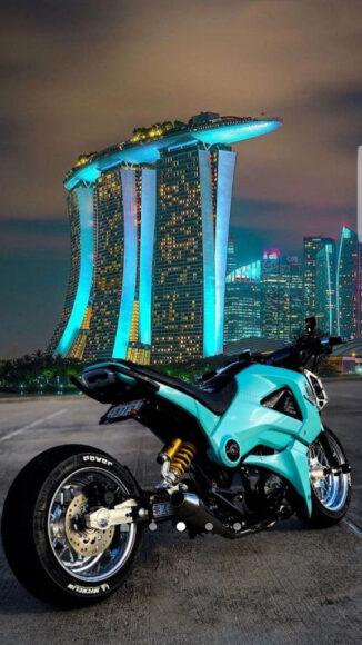 hình nền xe moto xanh thời thượng