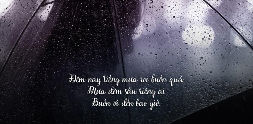 quotes buồn và mưa