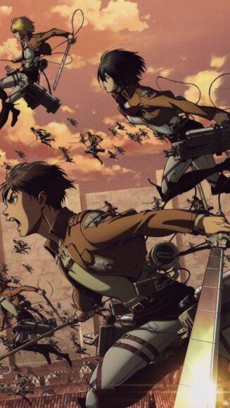 ảnh các thành viên Đội Trinh Sát trong Attack On Titan xả thân vì cuộc chiến