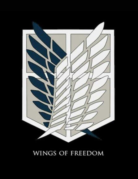 ảnh logo Attack On Titan của Đội Trinh Sát đơn giản nhưng mạnh mẽ