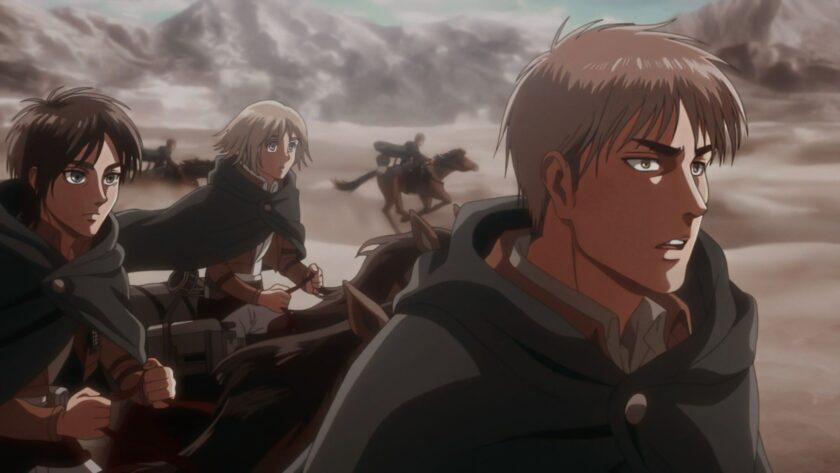 ảnh trận chiến ác liệt trong attack on titan