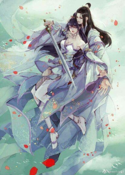 Hình ảnh anime đôi cổ trang đẹp nhất