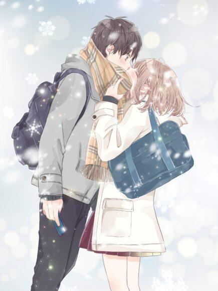 Hình ảnh anime đôi couple lãng mạn