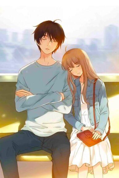 Hình ảnh anime đôi couple ngọt ngào