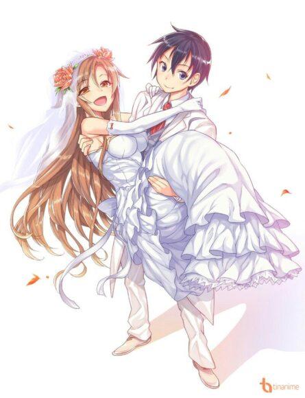 Hình ảnh anime đôi đám cưới đẹp nhất