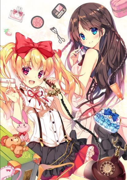 Hình ảnh anime đôi girl sành điệu nhất