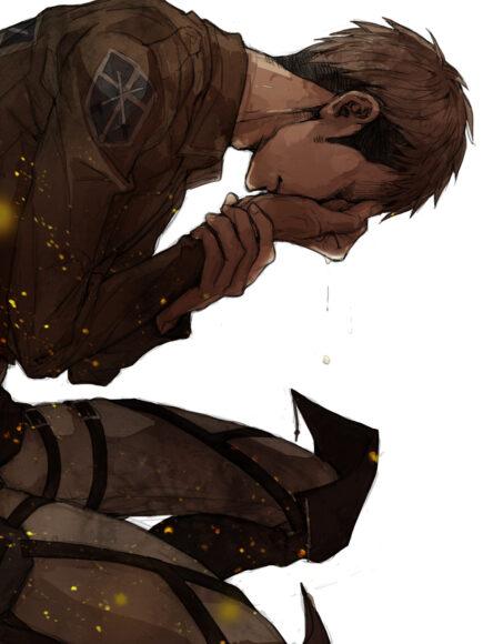 hình ảnh Attack On Titan khoảnh khắc cảm động khi Jean rơi nước mắt
